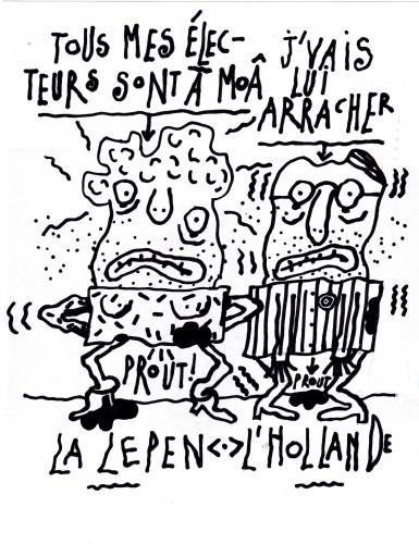 Le Pen, hollande, élections départementales.
